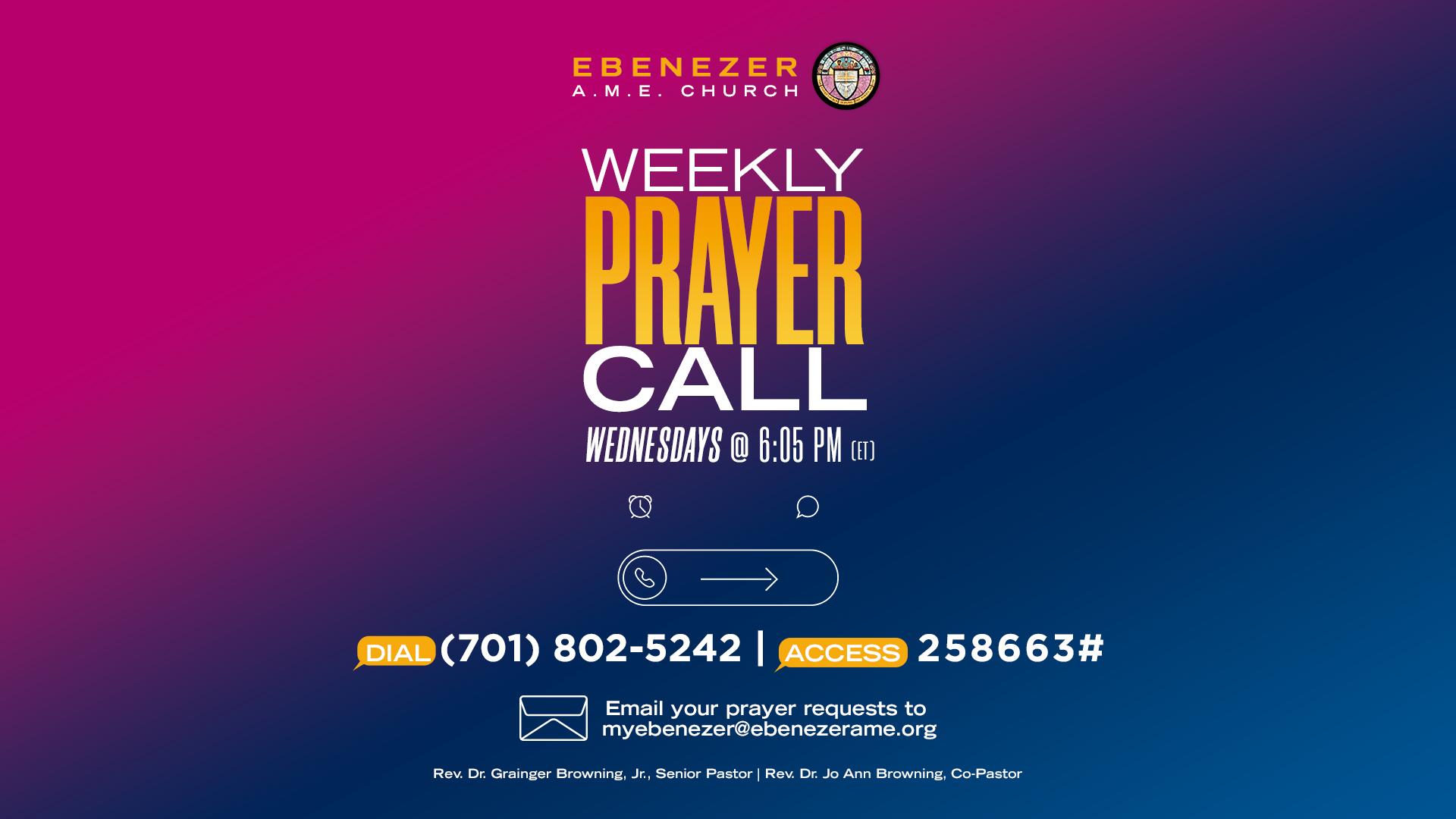 Churchwide prayer call