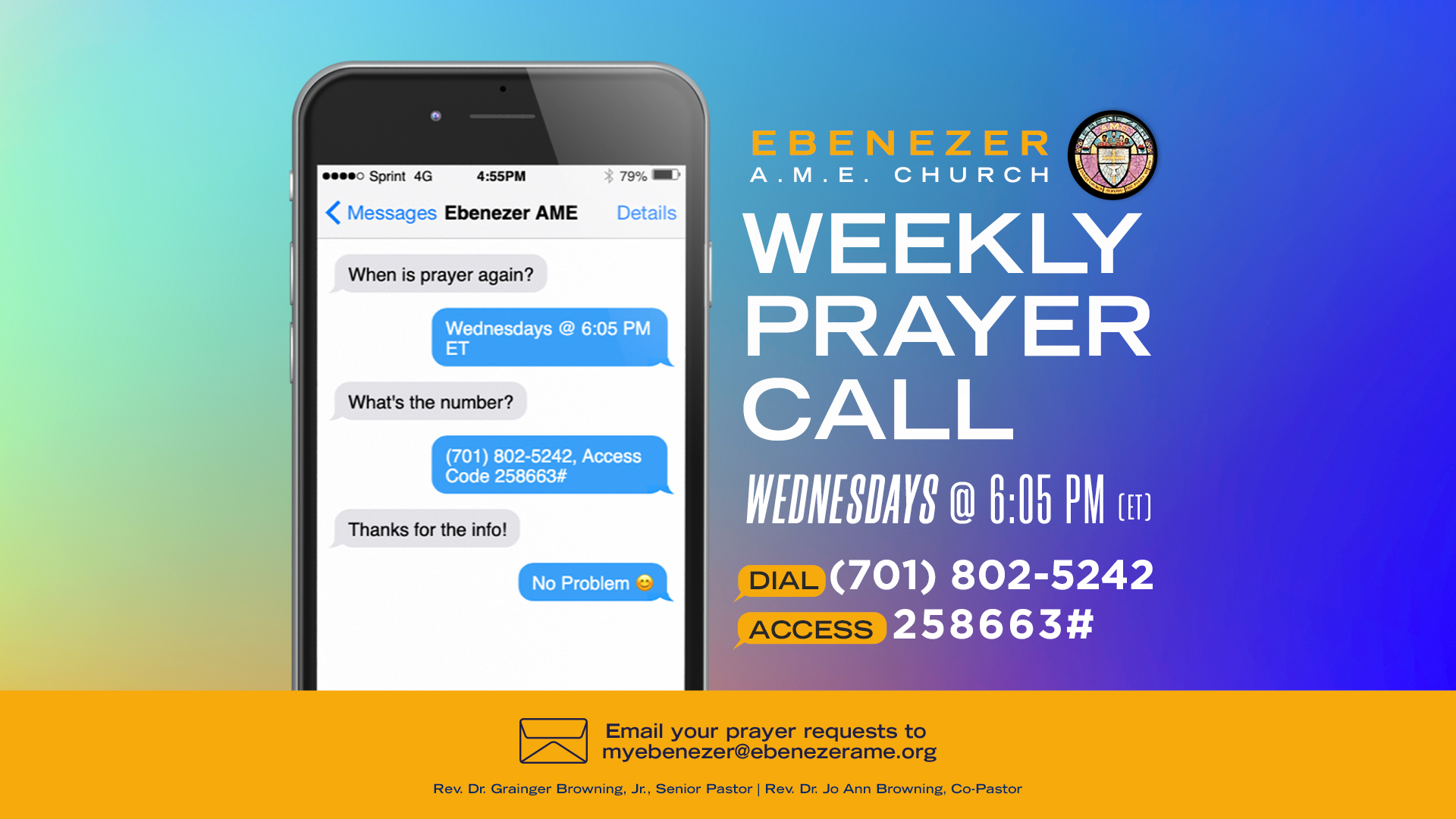 Weekly Churchwide Prayer Call
