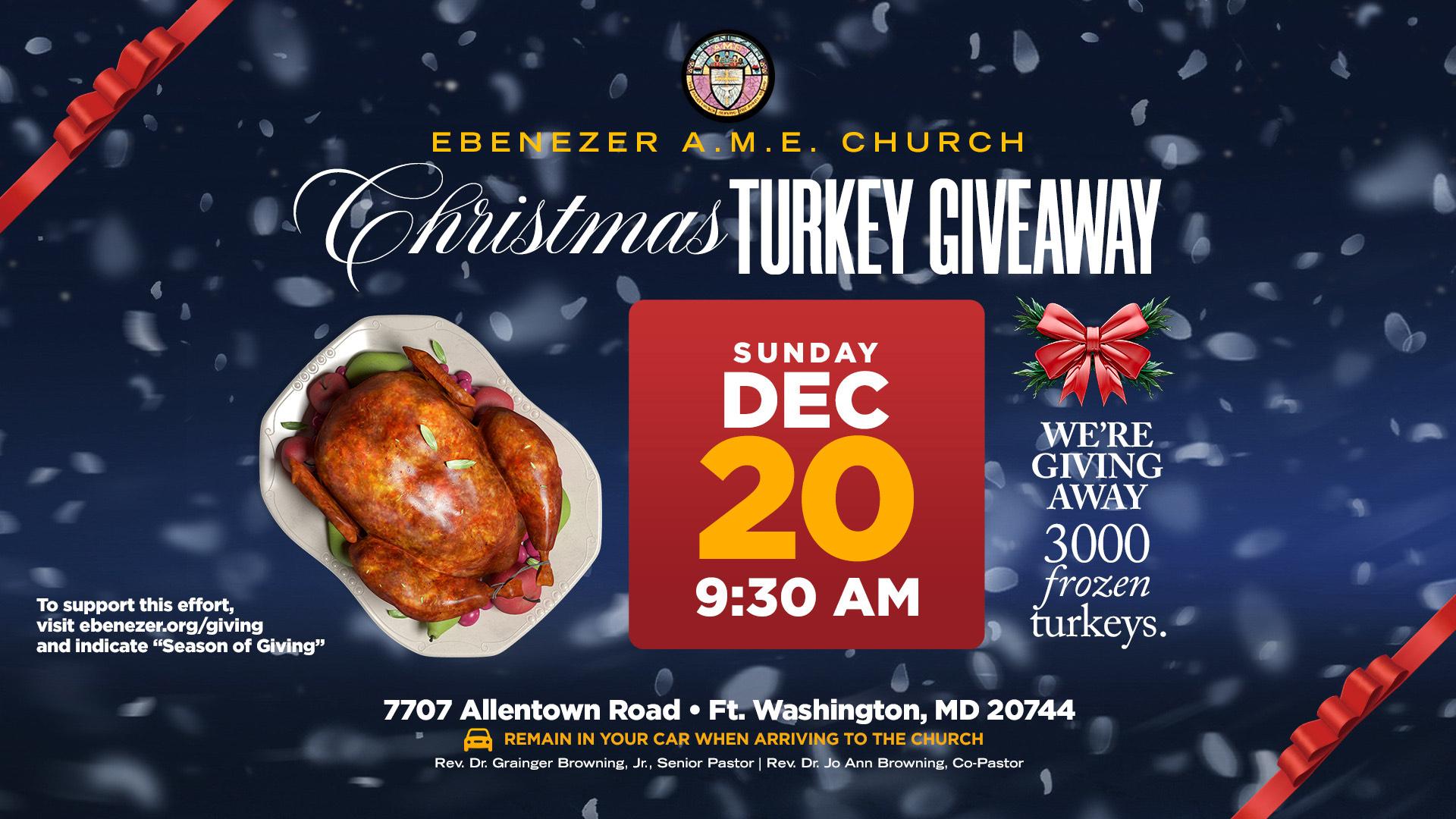 Sun. Dec 20 Turkey Giveaway