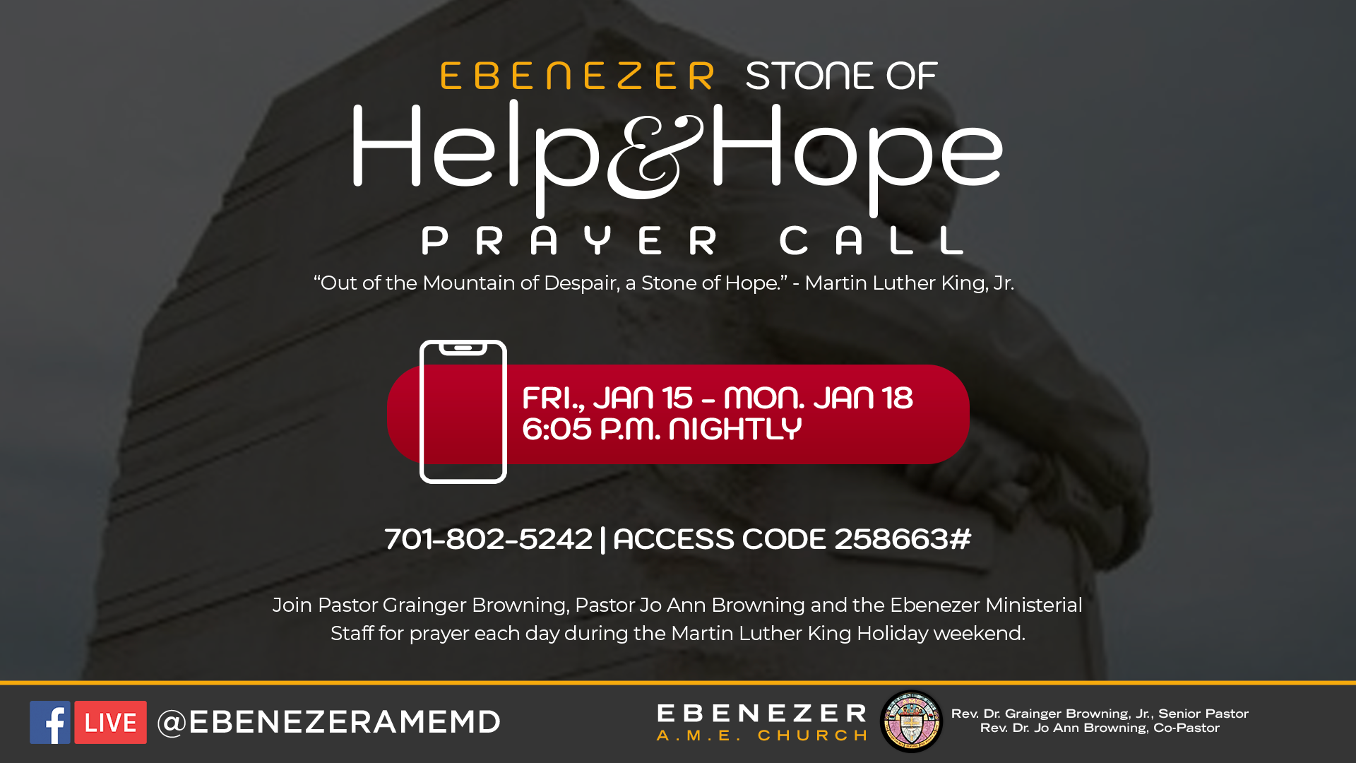 Help & Hope Prayer Call