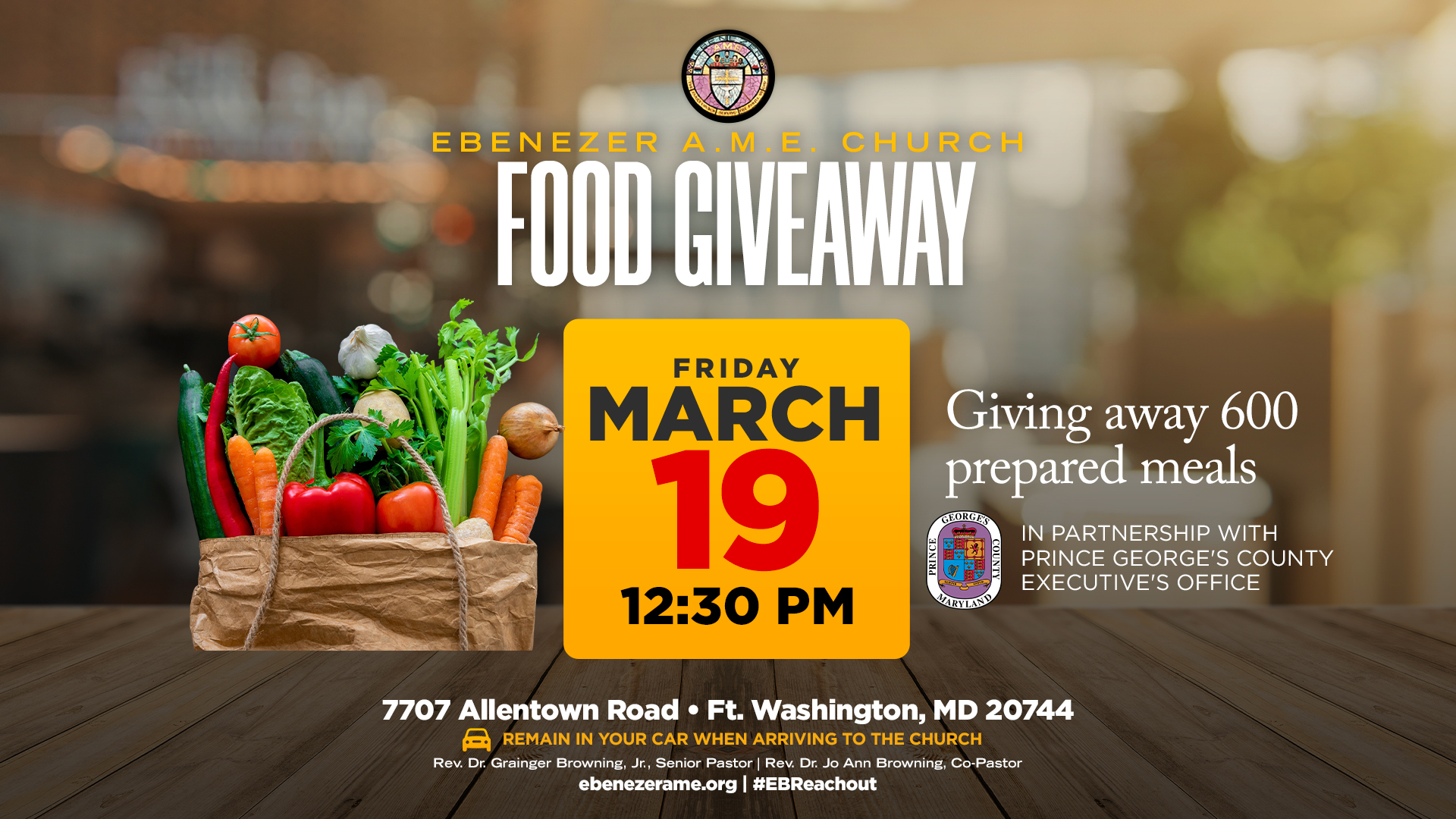 March 19 Food Giveaway