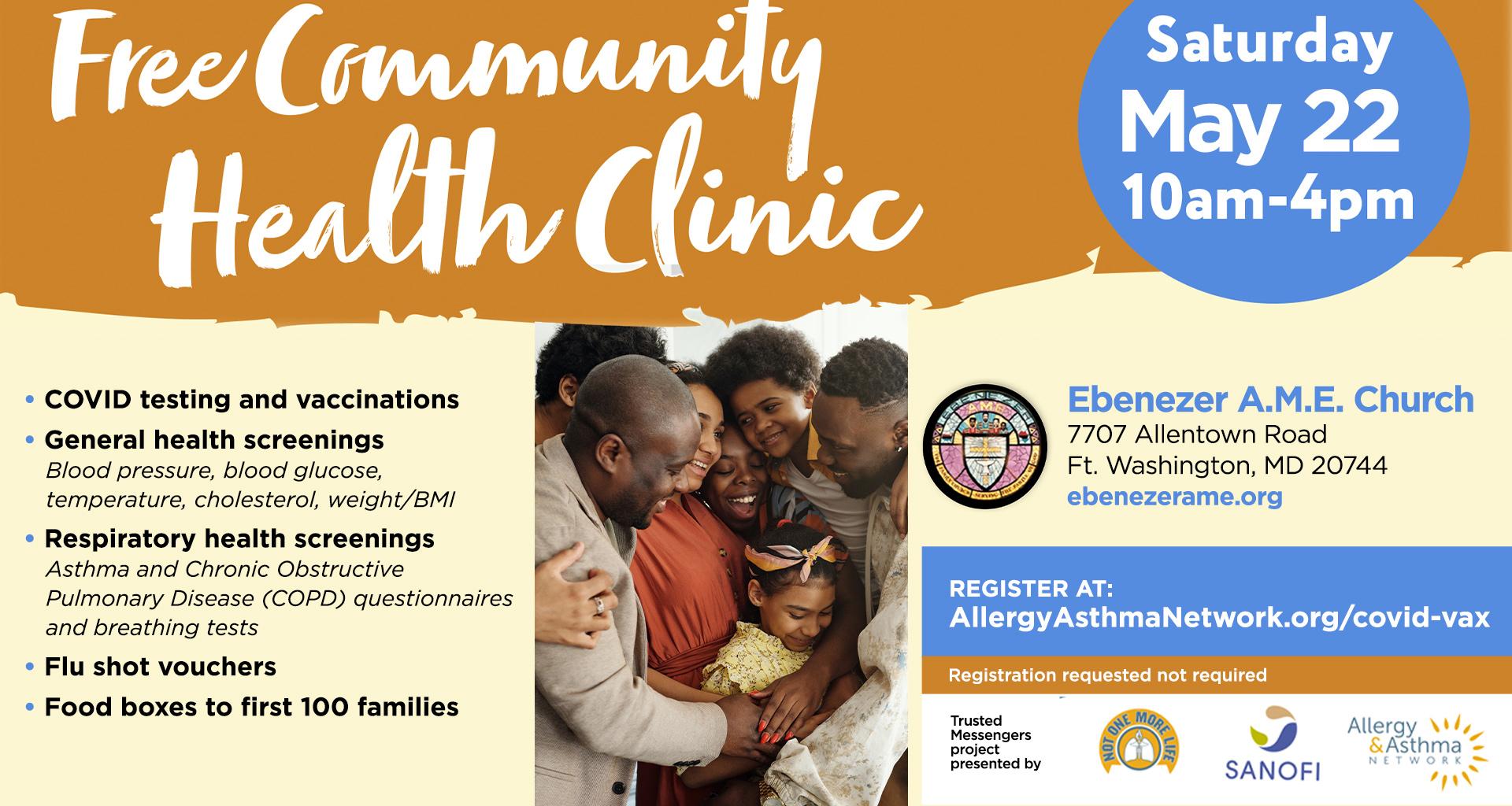 May 22 Community Health Clinic