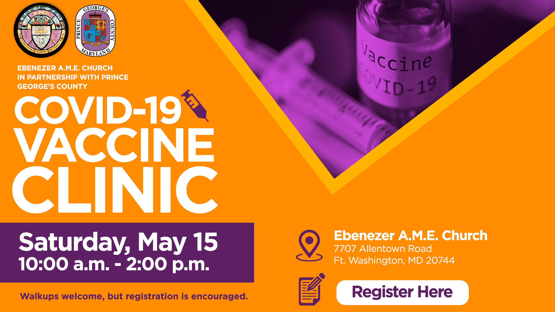 May 15 Vaccine Clinic