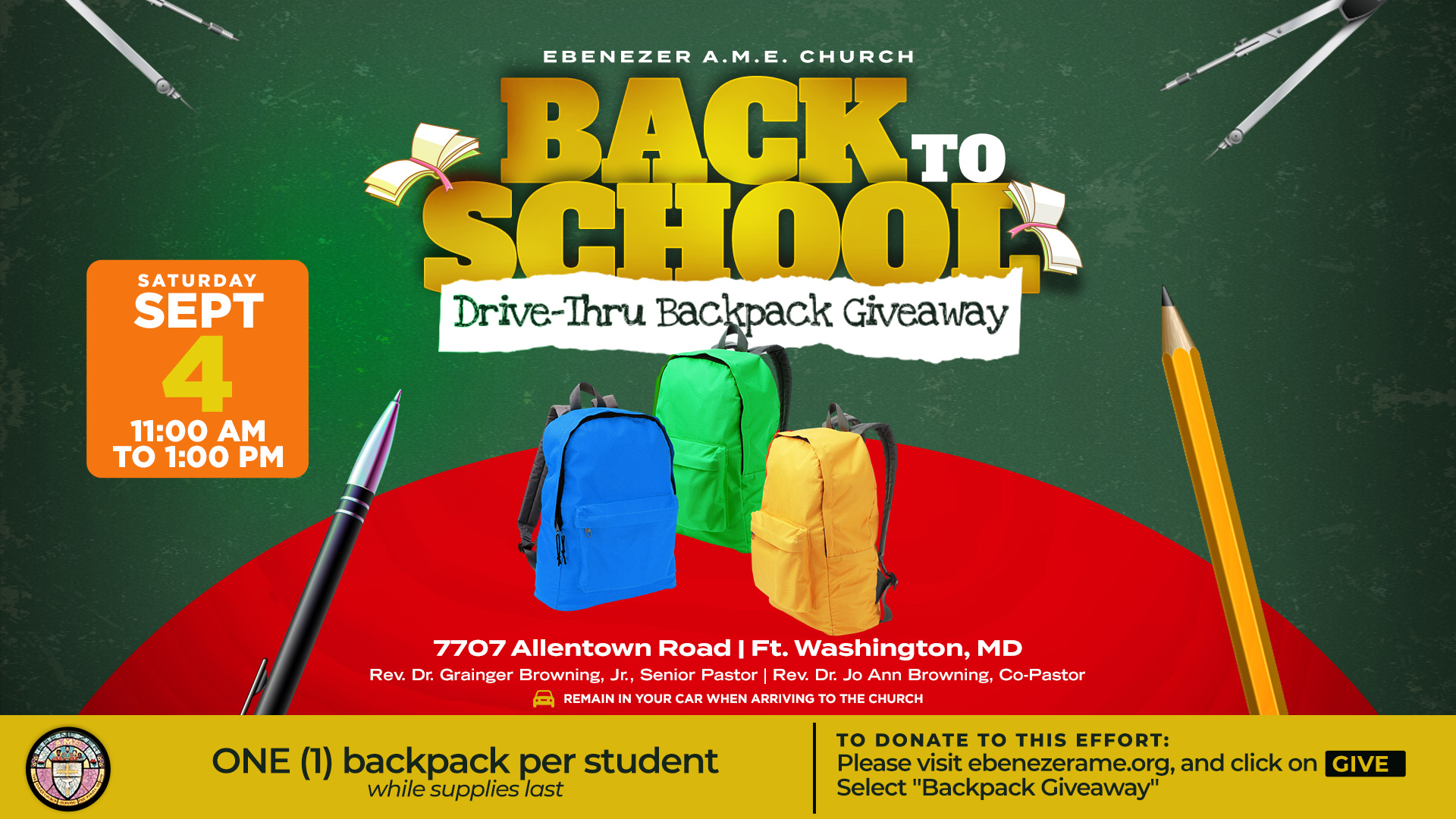 2021 Backpack Giveaway